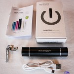 External power bank with built-in flashlight RAVPower® RP-PB08 3000mAh packaging - Luster mini