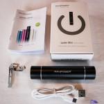 External power bank with built-in flashlight RAVPower® RP-PB08 3000mAh packaging - Luster mini