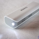 Backup battery recharge Romoss brand 2600mAh Sofun 1 with LED lights and charge indicator