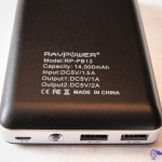Technical specification RAVPower® RP-PB13 14000mAh 1.5A input and output 1A and 2A