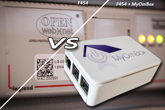 Comparison of MyHome automation system with and without MyOmBox