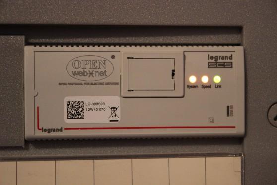 passerelle domotique réseau MyHome OpenWebNet F454