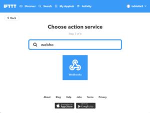 webhook http ifttt