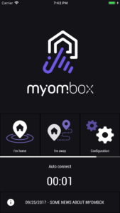 myombox ios application with plug & play system